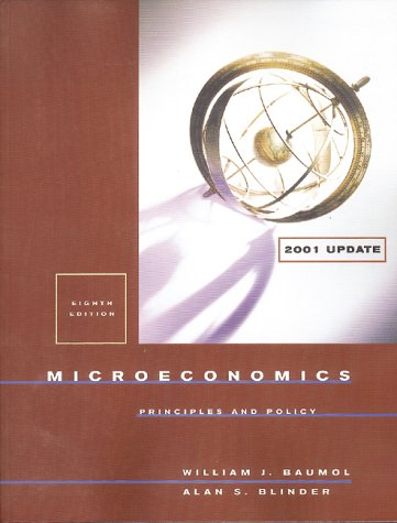 9780030268564: Microeconomics: Principles and Policy (2001 Update Edition)