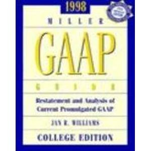 9780030270963: GAAP GUIDE 1998/COLLEGE EDITION