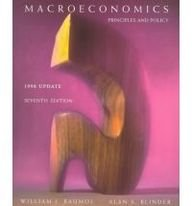 9780030271823: Macroeconomics : Principles and Policy : 1998 Update