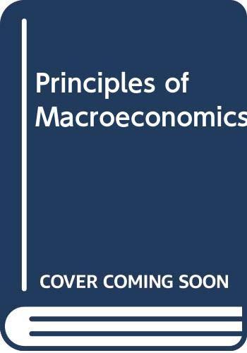 9780030275432: Principles of Macroeconomics
