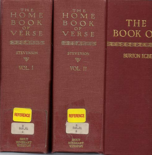 The Home Book Verse, American and English, 1580-1920: With an Appendix Containing a Few Well-Known ...