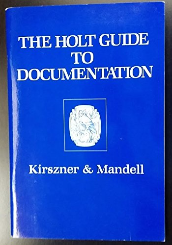 9780030282096: Holt Guide to Documentation and Writing In the Disciplines