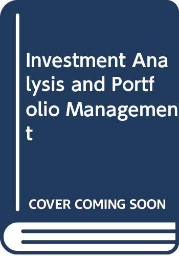 9780030283178: Investment Analysis and Portfolio Management