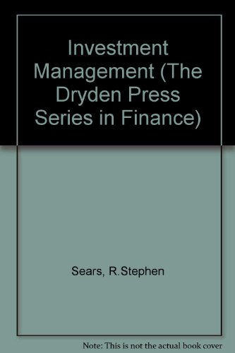 9780030286629: Investment Management (The Dryden Press Series in Finance)