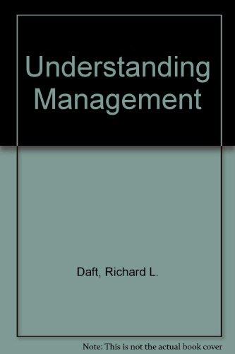 9780030287961: Understanding Management