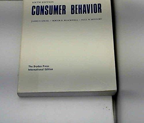 9780030288821: Engel Consumer Behavior 6e IE