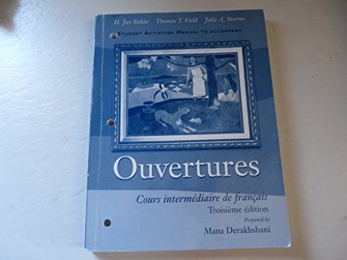 9780030289583: Ouvertures And Student Activity Manual