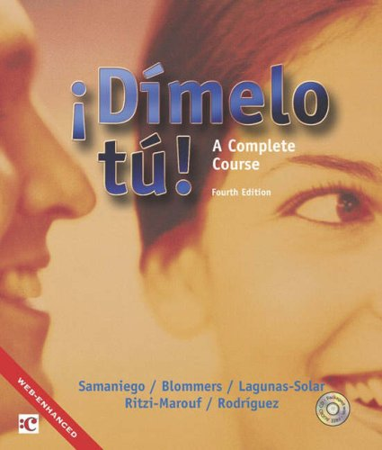 9780030291913: Dimelo tu!: A Complete Course (Text/Audio CD Package)