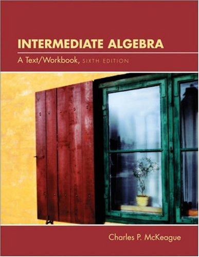 9780030294617: Intermediate Algebra: A Text/Workbook (with CD-ROM, Make the Grade, and InfoTrac)