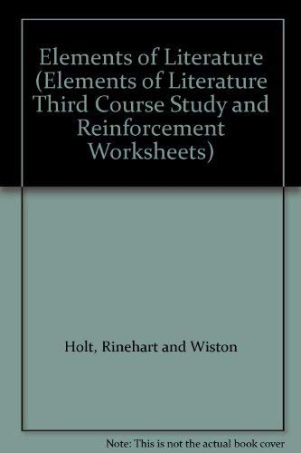 9780030299087: Elements of Literature (Elements of Literature Third Course Study and Reinforcement Worksheets)