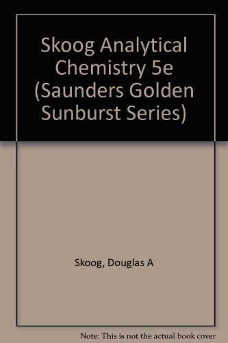 9780030299247: Analytical Chemistry: An Introduction (Saunders Golden Sunburst Series)