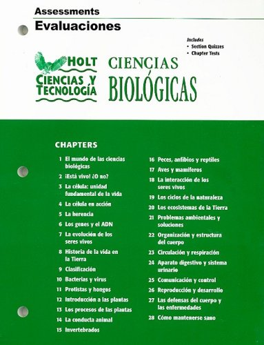 9780030301360: Holt Ciencias y Technologia: Ciencias Biologicas Assessments Evaluaciones