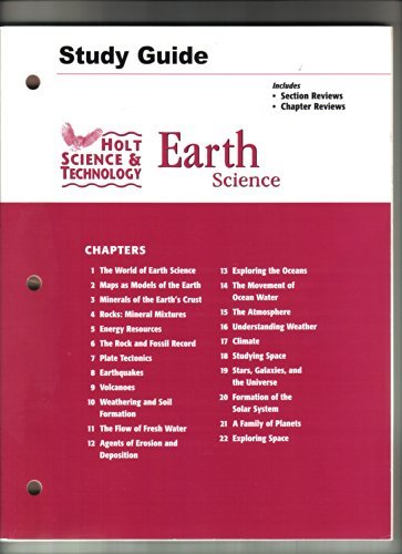 9780030301599: Holt Science and Technology: Earth Science (Study Guide)