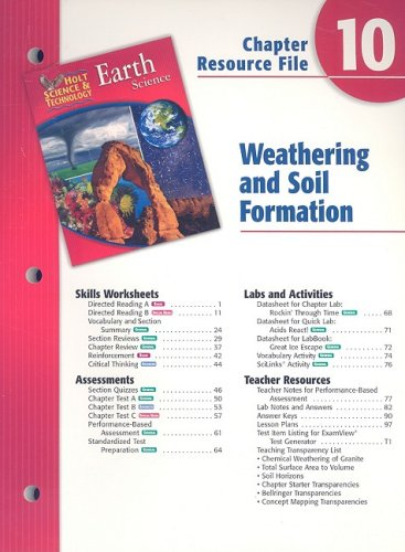 9780030303111: Holt Science & Technology Earth Science Chapter 10 Resource File: Weathering and Soil Formation