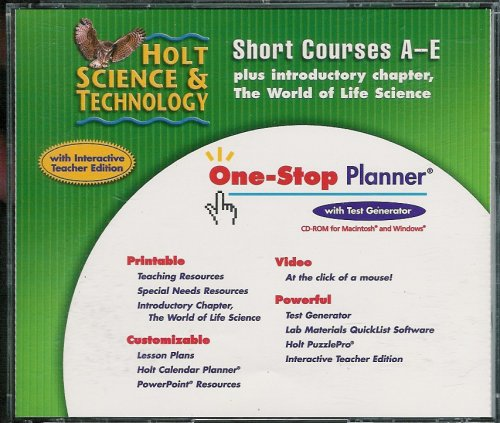 9780030306075: Holt Science and Technology Short Course: One-Stop Planner
