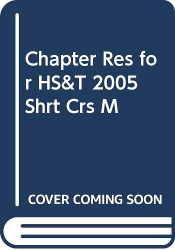 9780030306761: Chapter Res for HS&T 2005 Shrt Crs M