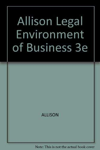 9780030306990: Legal Environment of Business