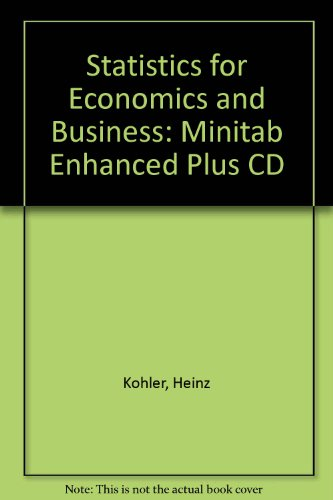 9780030308468: Statistics for Economics and Business: Minitab Enhanced Plus CD