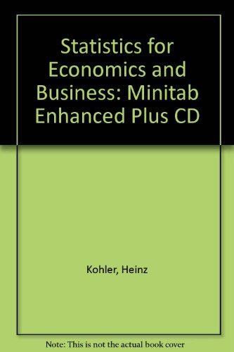 9780030308468: Statistics for Economics and Business: Minitab Enhanced Plus CD