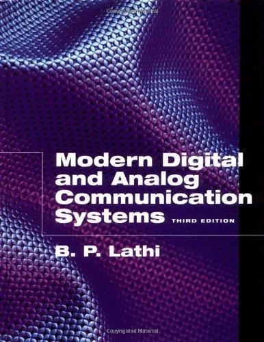 9780030309922: Modern Digital & Analog Communications 2e Solutions Man