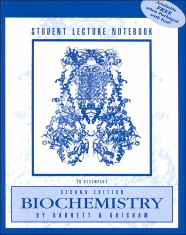 9780030310430: STUDENT LECTURE NOTEBOOK-BIOCHEMISTRY 2E