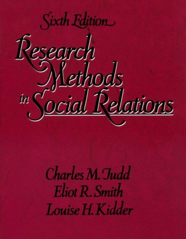 9780030311499: Research Methods in Social Relations