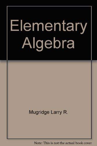 9780030314421: Elementary algebra