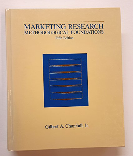 9780030314728: Marketing Research: Methodological Foundations