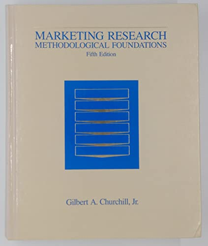 9780030315671: Marketing Research: Methodological Foundations