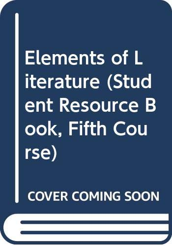 9780030316098: Elements of Literature (Student Resource Book, Fifth Course)