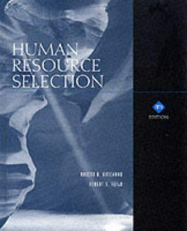 9780030319334: Human Resource Selection