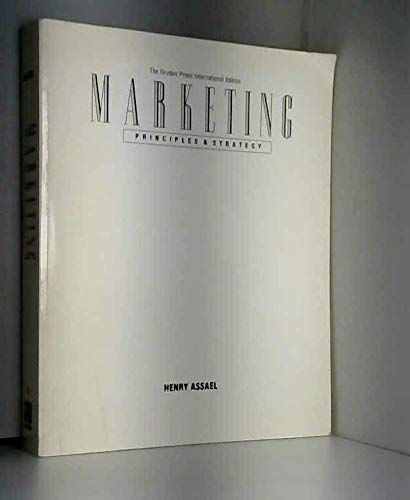 9780030320842: Marketing : Principles & Strategy