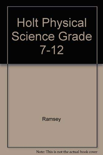 9780030321245: Holt Physical Science Grade 7-12