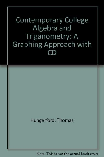 9780030322778: Contemporary College Algebra and Trigonometry: A Graphing Approach With Cd-Rom