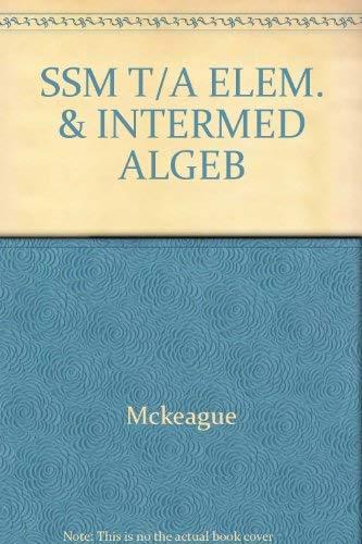 9780030322914: SSM T/A ELEM. & INTERMED ALGEB