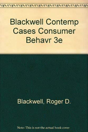 9780030323171: Contemporary Cases in Consumer Behavior