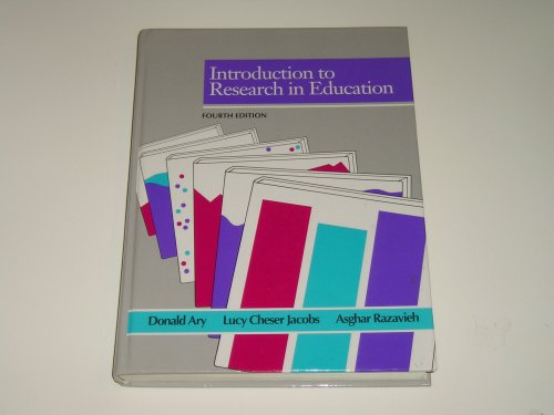 9780030324628: Introduction to Research in Education