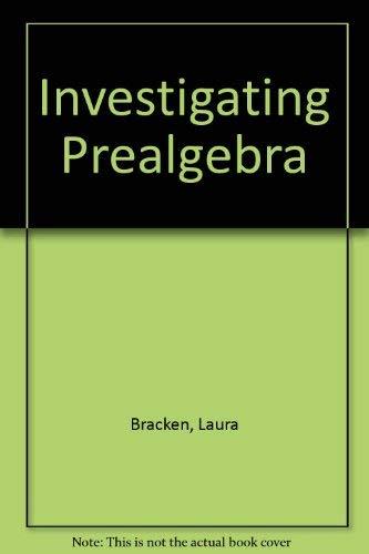 9780030324666: Investigating Prealgebra: Preliminary Edition