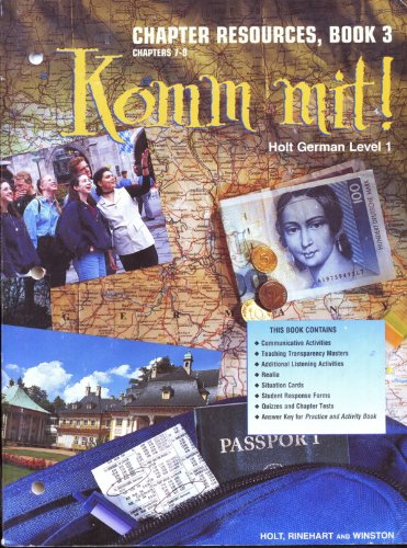 9780030325434: KOMM mit! Holt German Level 1 [Chapter Resources, Book 3 Chapters 7-8]
