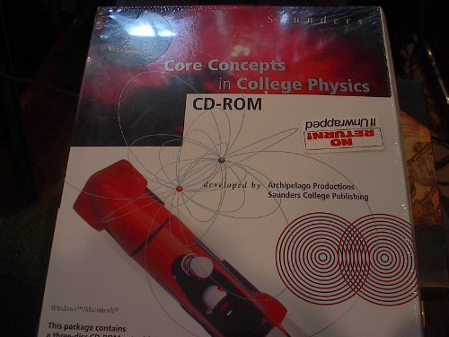 9780030325618: Saunders Core Concepts in College Physics