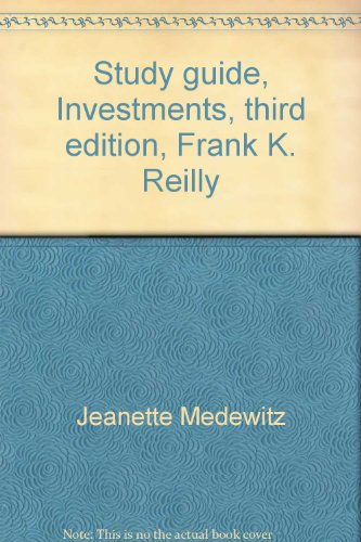 9780030326677: Study guide, Investments, third edition, Frank K. Reilly
