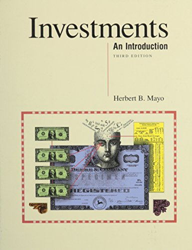 9780030326684: Mayo Investments:an Introduction 3e