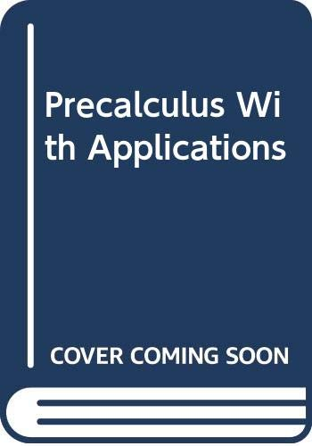 9780030327292: Precalculus With Applications