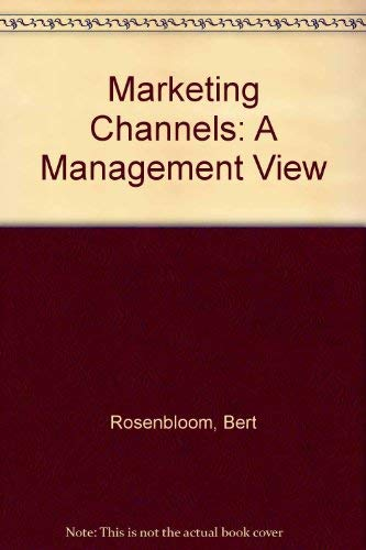 9780030327629: Marketing Channels: A Management View (The Dryden Press series in marketing)