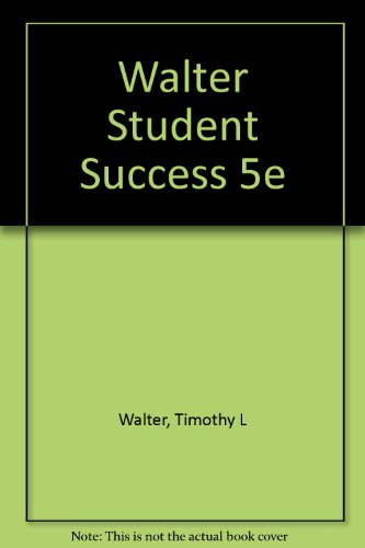 9780030327889: Walter Student Success 5e