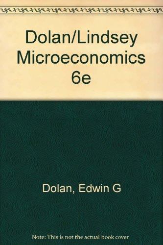 9780030328824: Dolan/Lindsey Microeconomics 6e