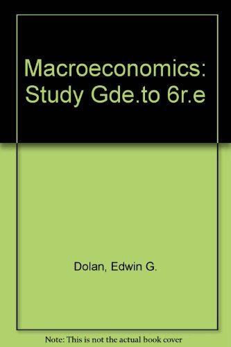 9780030328985: Macroeconomics: Study Gde.to 6r.e