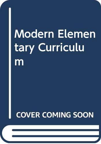 9780030329470: Modern Elementary Curriculum