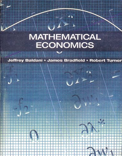 9780030329982: Mathematical Economics