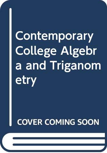 9780030330612: Contemporary College Algebra and Triganometry: Solutions Manual